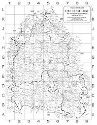 Map Of Oxford England by Oxfordshire Family History Society Oxford County Parish Map