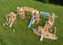 frolic 16 wooden playset and swing set cedarworks playground
