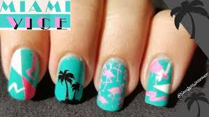 miami vice retro design tutorial nails and warpaint youtube