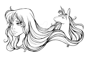the last unicorn line art by jinbins on deviantart