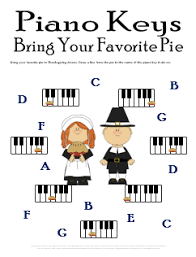 name the piano key worksheet with thanksgiving theme