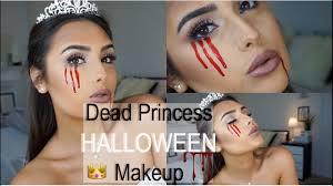 dead princess halloween makeup tutorial easy youtube