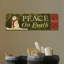 adeco decorative christmas wood wall sign plaque