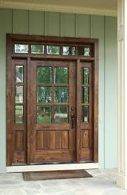 pleasurable front door exterior home deco contains strong wooden oconee tdl 6lt 6 8 single knotty alder door w sidelights and