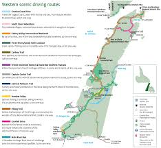 Trans Canada Highway Map by Western Newfoundland Scenic Driving Routes Map