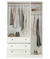 buy kensington 3 door 3 drawer wardrobe oak effect u0026 white at