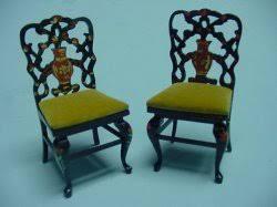 Oriental Chairs Bespaq Kent U0027s Mini Treasures Artisan Dollhouse Miniatures