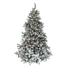 7 5 pre lit flocked emerald artificial tree