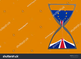 Chamber Flag Brexit Illustrated By Hourglass British United Stock Illustration