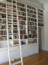Library Bookcases With Ladder Door Library Shelves With Ladder Home Library Shelves With Ladder