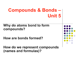 chemical bonds foldable