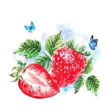 painting greeting cards in watercolor painting summer watercolor strawberry nature eco greeting
