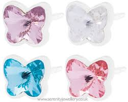 blomdahl earrings hypoallergenic blomdahl plastic small butterfly