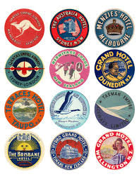 travel stickers images 12x vintage travel stickers oceania mix vintralab jpg