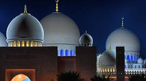 domes of sheikh zayed grand mosque abu dhabi united arab emirates