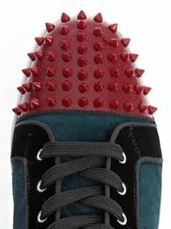 Christian Louboutin Louis Studded High Top Trainers In Blue For