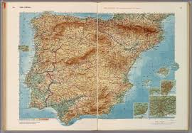 physical map of spain spain portugal david rumsey historical map collection