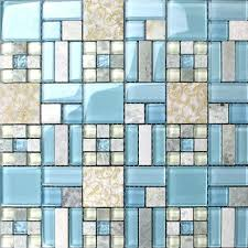 Mosaic Tile Backsplash Kitchen Design Colorful Glass  Stone Blend - Stone glass mosaic tile backsplash