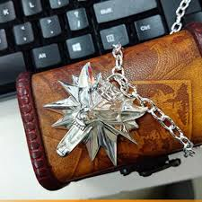 medallion necklace silver images The witcher 3 iii solid 925 silver necklace wild hunt wolf jpg
