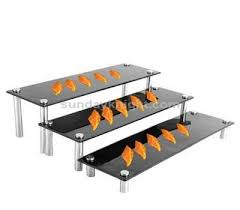 buffet display stands black acrylic buffet display stands