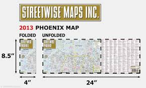 Map Of Tempe Arizona by Streetwise Phoenix Map Laminated City Center Street Map Of