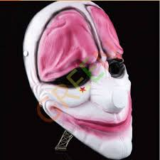 character halloween mask payday game unique joker cosplay grimace