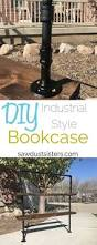 Industrial Pipe Bookcase How To Build A Simple Industrial Pipe Bookcase Sawdust Sisters