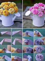 How To Make Home Decorating Items Best 25 Origami Rose Ideas On Pinterest Origami Paper Folding