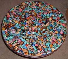How To Make A Mosaic Table Top Mosaic Table Top For My Patio Table Mosaic Furniture Pinterest