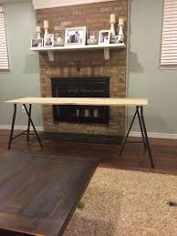 Diy Trestle Desk Diy Poplar Trestle Desk A Smith Of All Trades