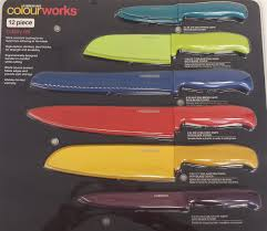 Coloured Kitchen Knives Set Cutlery Set Farberware Colour Works 12pc Bj8 5172947