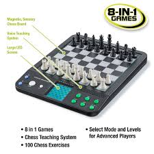 amazon com croove electronic chess and checkers set with 8 in 1