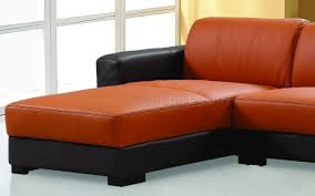 Orange Leather Chair Sectional Sofa In Brown U0026 Orange Leather By Beverly Hills