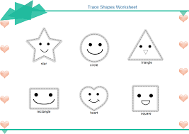 trace shapes worksheet free trace shapes worksheet templates