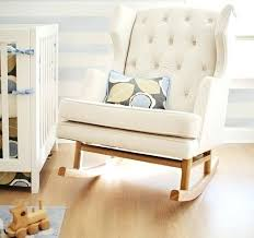 White Wooden Rocking Chair For Nursery Wooden Baby Rocking Chair Rocking Chair Design White Colored