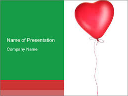 single love balloon powerpoint template u0026 backgrounds id