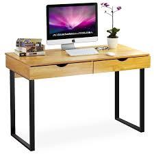 Schreibtisch 90 Cm Tief Finebuy Schreibtisch Kanpur 120 X 60 X 79 Cm Massiv Holz
