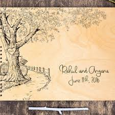rustic wedding guest book best wedding tree guest book on wood products on wanelo