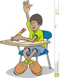 Kid At Desk by Student Working At Desk Clipart