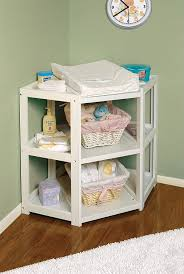 Diapers Changing Table Badger Basket Corner Changing Table White Baby