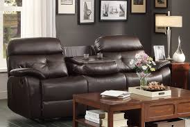 awesome double recliner sofa with console 92 for your modern sofa