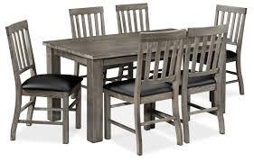 slate dining room table porter 7 piece dining room set slate and black leon u0027s