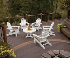 Furniture Composite Adirondack Chairs The Cape Cod Folding Adirondack Chair Trex Outdoor Furniture