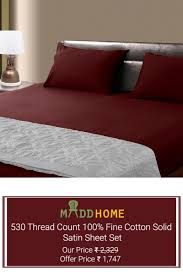 grab the best from maddhome s exclusive cotton sheet set