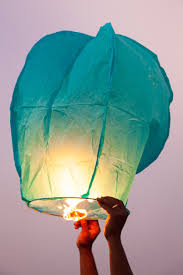 lantern kites a releases a magic lantern into the sky at the end of the