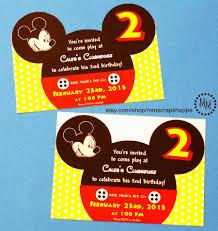 mickey mouse 2nd birthday invitations mickey mouse u0026 stud muffin birthday invitations the scrap shoppe