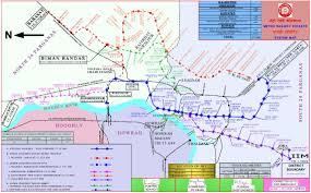Metrorail Map Metro Railway Kolkata Indian Railways Portal