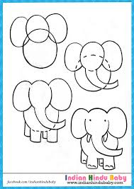 teach your kid to draw u0027elephant u0027 with simple drawing tips https
