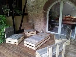 canapé exterieur en palette salon salon en palette charmant salon jardin en palette avec