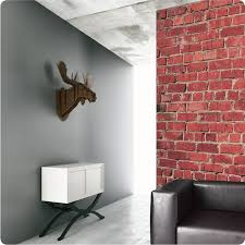 Temporary Wallpaper For Apartments Buy Removable Wallpaper Online Red Brick Design